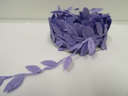 2 metres or 10 metre Full Roll 38mm  LILAC  Leaf Garland Ribbon double UK VAT Reg